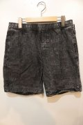 【BRIXTON】Steady Elastic WB Shorts-Black Acid Wash-