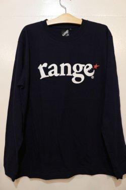 画像1: [range]range logo L/S tee -Navy-