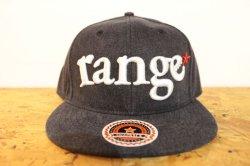 画像1: [range] range New Hattan snap back cap -Black-