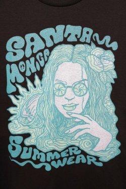 画像2: [SANTAMONICA SUMMER WEAR] FUNKY GIRL S/S Tee-Black-