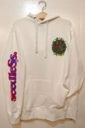[seedleSs]sd fluorescence leef hoody-White-