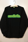 [seedleSs]COOP CREW SWEAT 12oz regular color-Black-