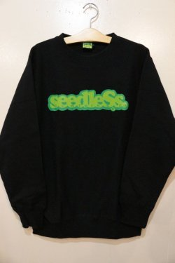 画像1: [seedleSs]COOP CREW SWEAT 12oz regular color-Black-