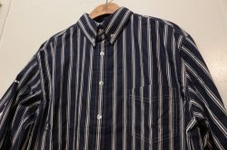 画像3: [Deviluse] Stripe Shirts-Navy-
