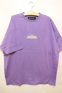 画像1: [DEVILUSE]Box Logo Big T-shirts-Lavender-