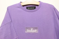 画像2: [DEVILUSE]Box Logo Big T-shirts-Lavender-