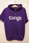 ☆SALE30%OFF [range] range logo sweat pull S/S Hoody-purple- ※Mサイズのみ