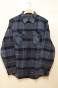 【BRIXTON】 Bowery L/S FLANNEL -Navy-