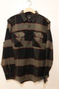 【BRIXTON】 Bowery L/S FLANNEL -Black-