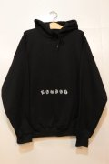 [LOU DOG] Old English Pullover Hooded -Black-