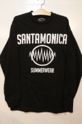 [SANATAMONICASUMMER WEAR] SMSW logo L/S tee -black/white-