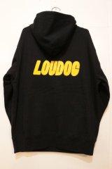 画像: [LOU DOG] LOU DOG ロゴ プルパーカ -Black-