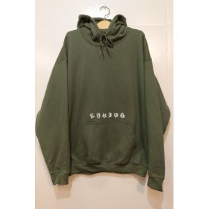 画像: [LOU DOG] Old English Pullover Hooded -Military Green-