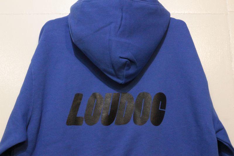 画像4: [LOU DOG] LOU DOG ロゴ プルパーカ -Blue-