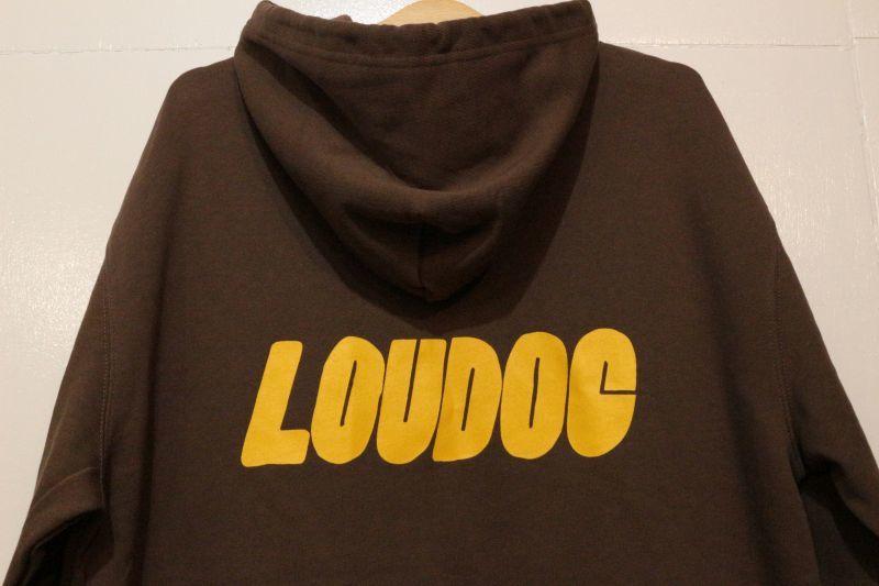 画像4: [LOU DOG] LOU DOG ロゴ プルパーカ -Dark Brown-