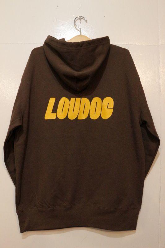 画像3: [LOU DOG] LOU DOG ロゴ プルパーカ -Dark Brown-