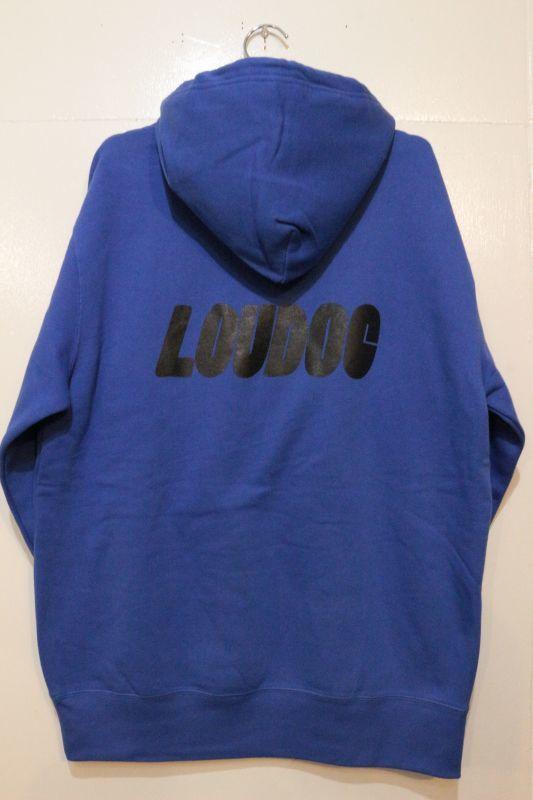 画像1: [LOU DOG] LOU DOG ロゴ プルパーカ -Blue-