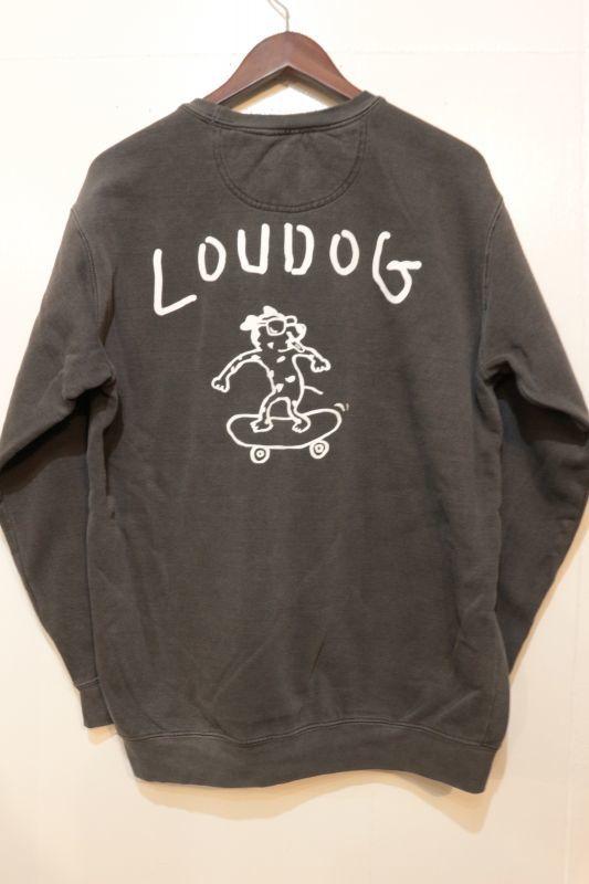 画像3: [LOU DOG] LOUDOG skateダメージスウェット-ブラック-