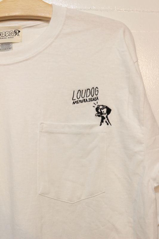 画像2: [LOU DOG] LOUDOG ポケットロングスリーブ -ホワイト-